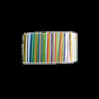 Трубочка коктейльное гофра 7 цветов (200шт)