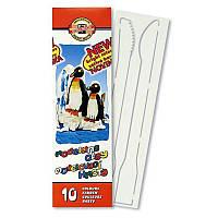 """Пластилін """"Пінгвіни"""", 10 кольорів, 200 г. Картонна упаковка з пластиковим піддоном"""