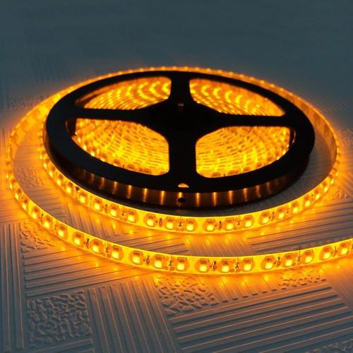 Стрічка жовта 9,6W/м 120LED/м IP65 в силіконі світлодіодна 8mm MTK-600YF3528-12 №1