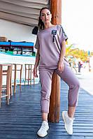 Современный женский костюм Больших Размеров, арт 401, цвет лиловый