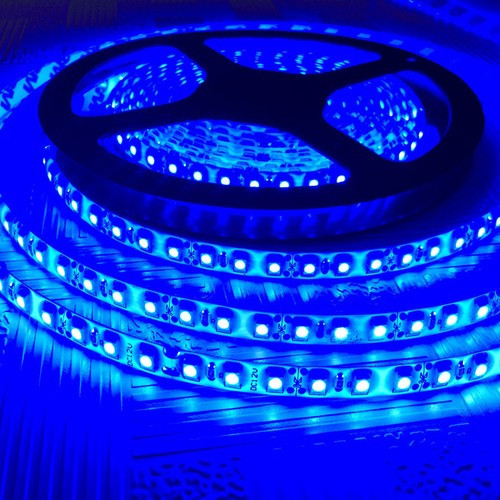 Стрічка синя 9,6W/м 120LED/м IP65 в силіконі світлодіодна 8mm MTK-600BF3528-12 №1