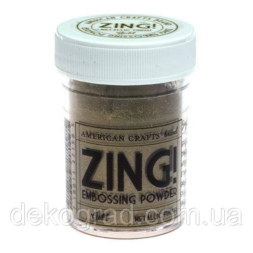 Пудра для эмбоссинга Metallic Gold Zing! embossing powder,
