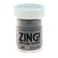 Пудра для эмбоссинга Metallic Silver Zing! embossing powder,