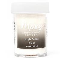Пудра для эмбоссинга Moxy Clear High Gloss