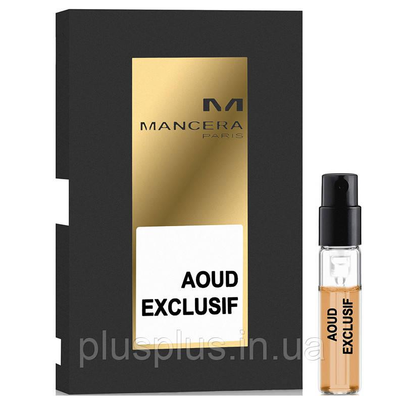 Парфюмированная вода Mancera Aoud Exclusif для мужчин и женщин (оригинал) - edp 2 ml vial