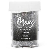 Пудра для эмбоссинга Moxy Glitter Silver