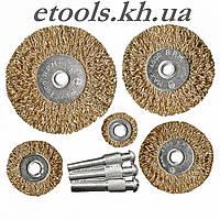 Набор щеток для дрели MTX, 5 шт. со шпильками, металлические 744949