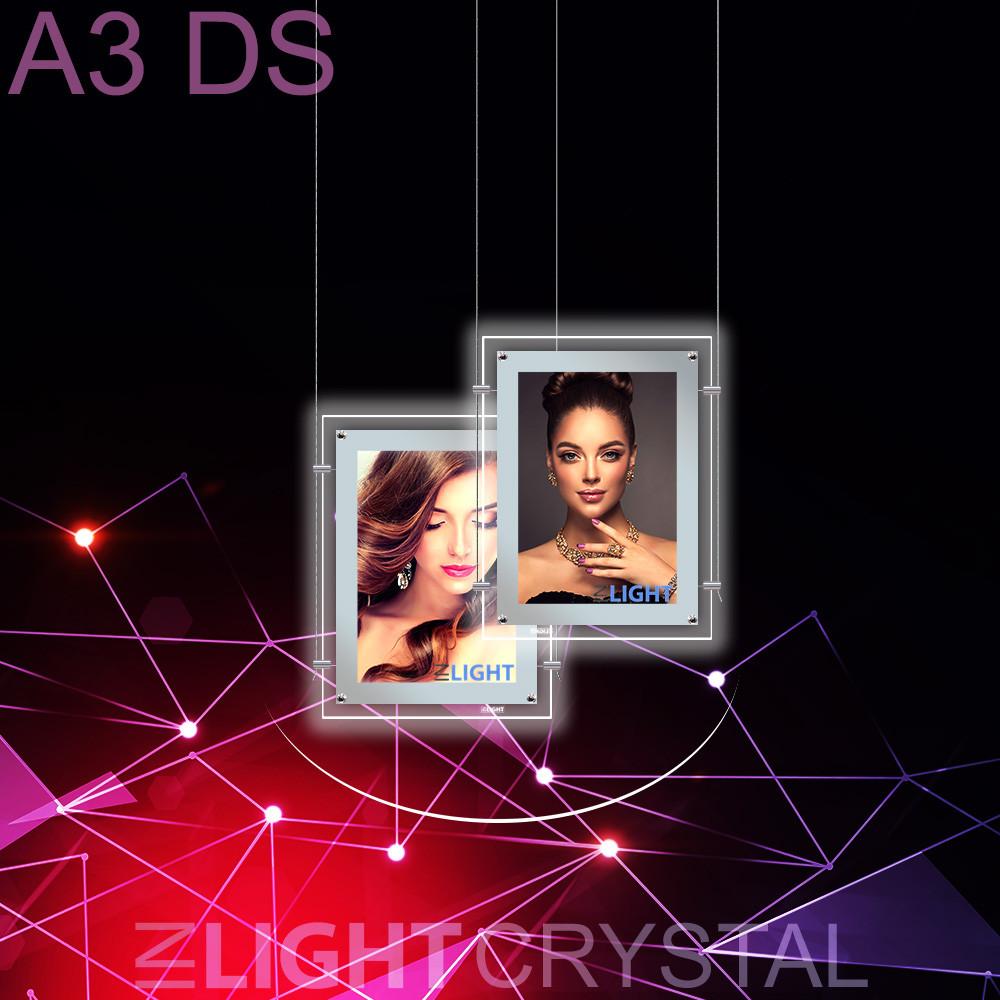 Фреймлайт Crystal Подвесной А3 Двухсторонний