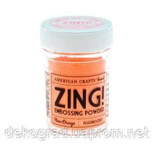 Пудра для эмбоссинга Neon Orange Zing! embossing powder,