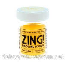 Пудра для эмбоссинга Neon Amber Zing! embossing powder,