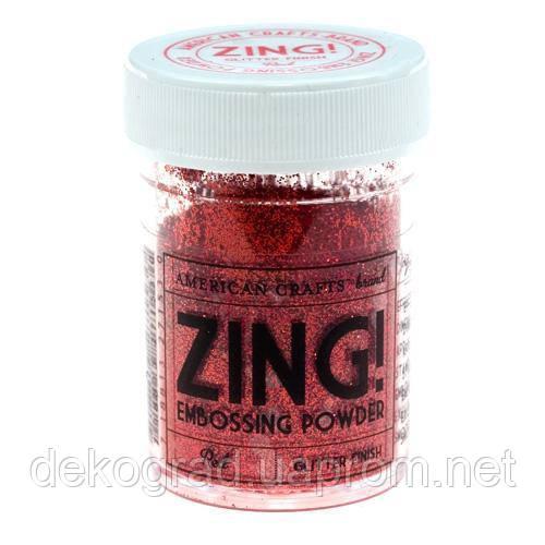 Пудра для эмбоссинга Red Glitter Zing! embossing powder,