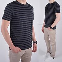 Размеры: M (48). Мужская футболка с карманом 100% хлопок премиум качества - черная