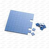 Термопрокладка 3K410-V20 1.0мм высечка 10x10 100шт синяя 4W термоинтерфейс для ноутбука, фото 3