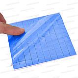 Термопрокладка 3K410-V20 1.0мм высечка 10x10 100шт синяя 4W термоинтерфейс для ноутбука, фото 5