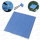Термопрокладка 3K410-V20 1.0мм высечка 10x10 100шт синяя 4W термоинтерфейс для ноутбука, фото 6