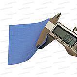 Термопрокладка 3K410-V20 1.0мм высечка 10x10 100шт синяя 4W термоинтерфейс для ноутбука, фото 4