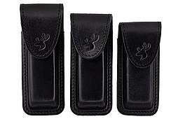 Подсумок, чехол для магазина ПМ (пистолет Макарова) формованный B на липучке  (кожа, чёрный)