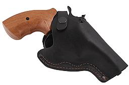 Кобура поясная Револьвер 3 не формованная (кожа, чёрная)