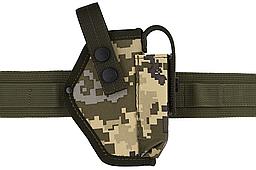 Кобура поясная Форт-12 с чехлом под магазин (Oxford 600D, пиксель)