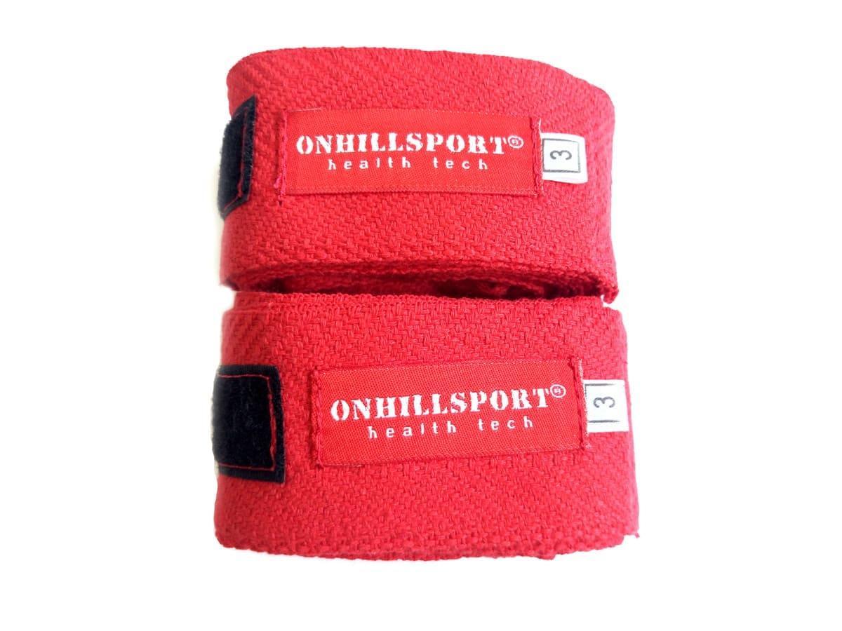 Бинты боксерские хлопок (пара) 4 м, красные