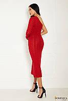 Вечернее вязаное длинное платье - V 153