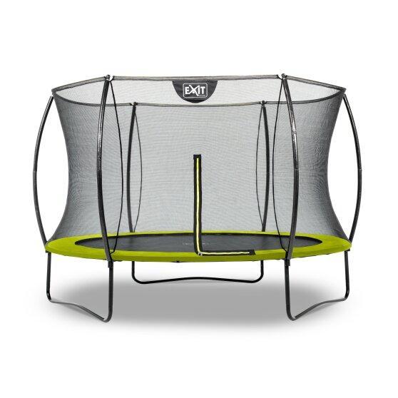 Батут EXIT Silhouette 305 см с защитной сеткой зелёный