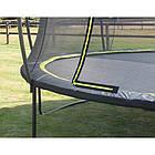 Батут EXIT Silhouette 305 см з захисною сіткою чорний, фото 6
