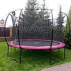Батут EXIT Silhouette 305 см з захисною сіткою чорний, фото 10
