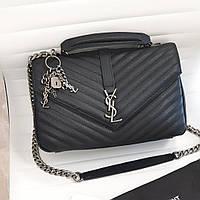 Кожаная женская сумка на цепочке Yves Saint Laurent Ив Сен Лоран YSL. Видео обзор. Размер 30см.