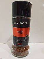 Растворимый сублимированный кофе Davidoff Cafe Rich Aroma, 100г в стеклянной банке
