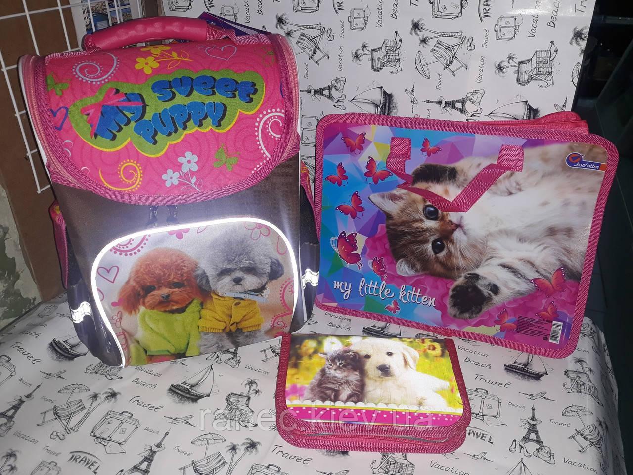 Набор для Девочки Smile Домашние любимцы рюкзак 988637 пенал 936381 папка А4 в Подарок