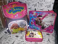 Набор для Девочки Smile Домашние любимцы рюкзак 988637 пенал 936381 папка А4 в Подарок, фото 1