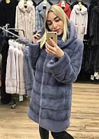 Норкова Шубка з капюшоном 90см.Колір блакитний, фото 1
