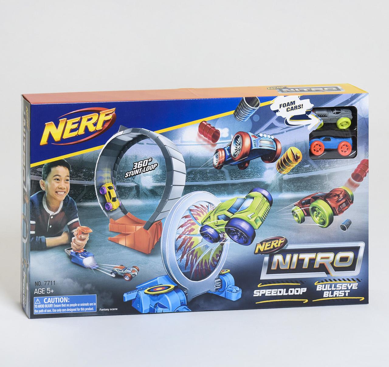 Трек-Пистолет Nerf Нитро 7711, 2 машинки