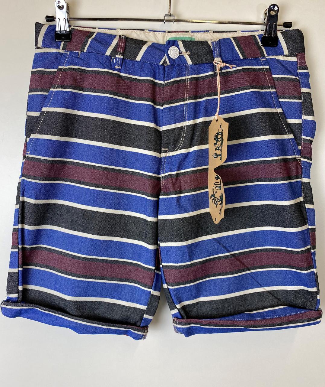 Шорты мужские Scotch & Soda цвет серо-бордово-синий размер 164 арт 14297018-SSBM-C81