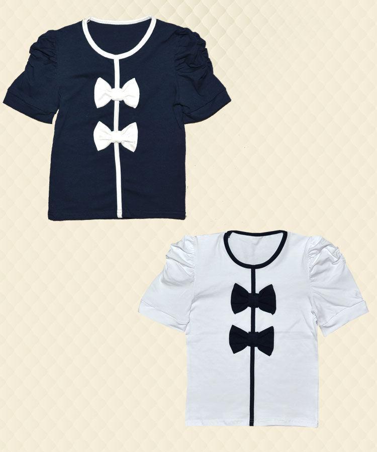 Блузка с бантиками стрейч-кулир маломерит