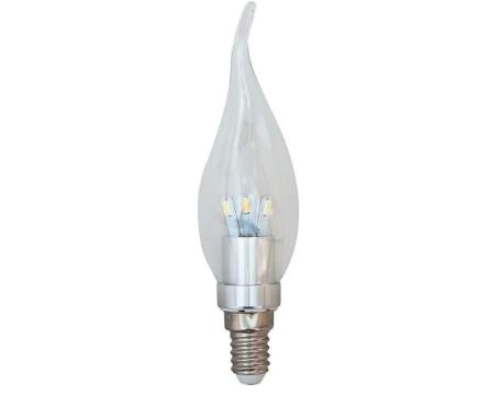 Светодиодная лампа Feron LB-71 3.5W свеча на ветру E14 2700K 230V Код.56062