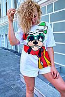 Модная футболка женская с принтом Гуффи  LUREX - белый цвет, L (есть размеры), фото 1