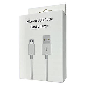 Кабель Box Microusb to USB 2m (white)