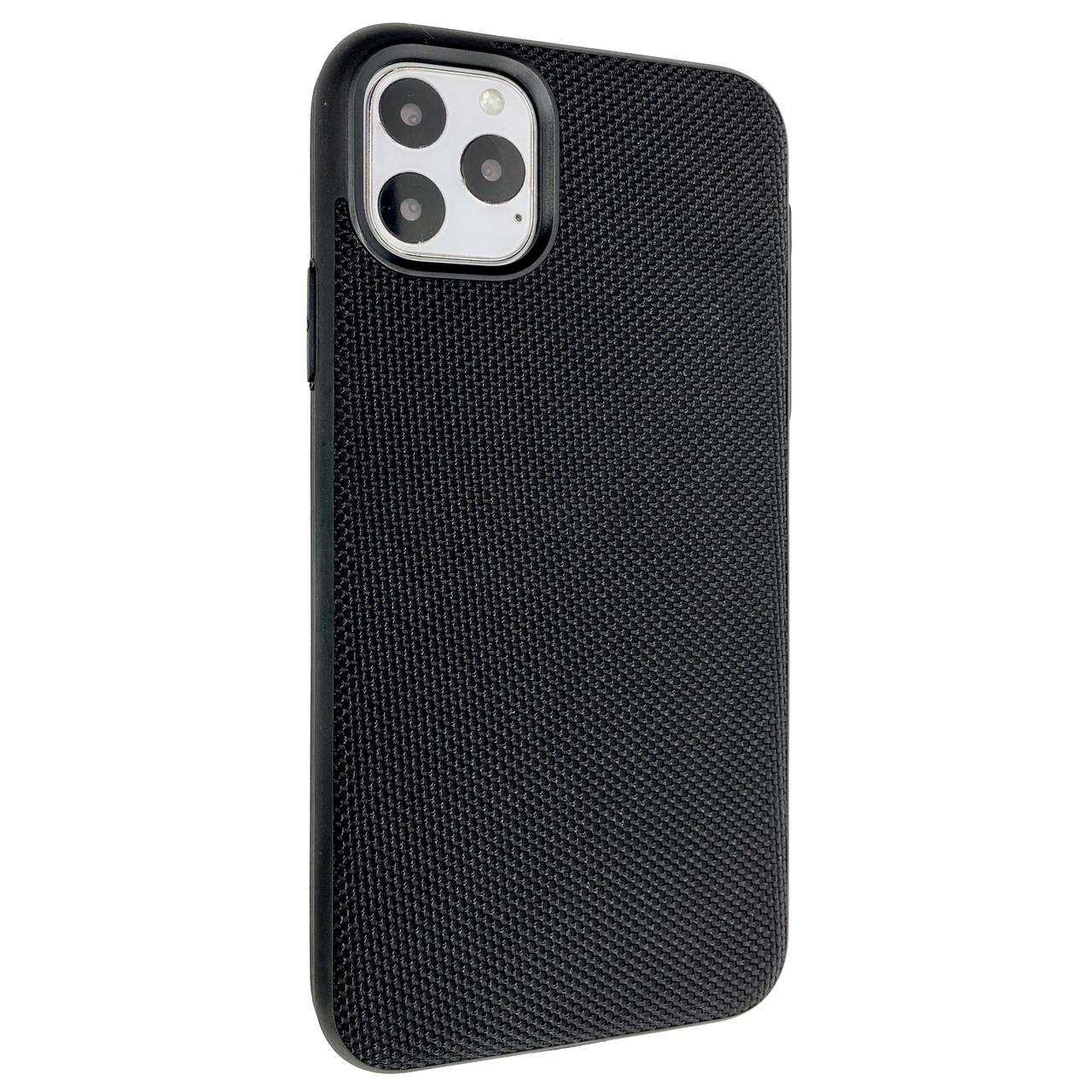 Чехол-накладка DK Silicone Nylon Case для Apple iPhone 11 Pro Max (black)