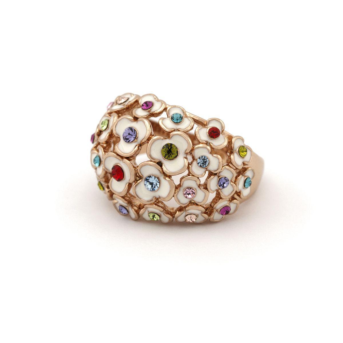 Кольцо  массивное с цветами 533 KH01  AB