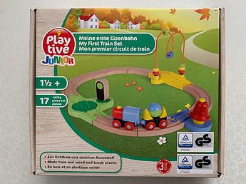 Дерев'яна залізниця PlayTive Junior 17 елементів