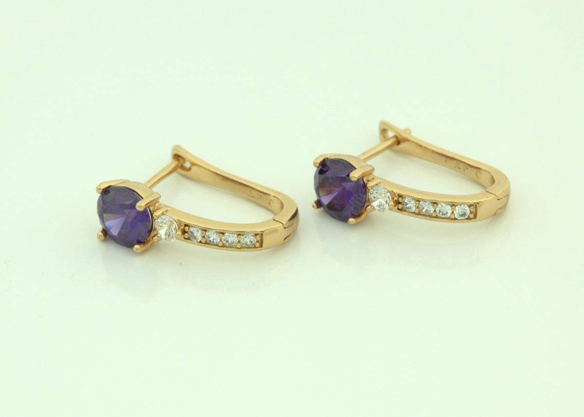 Серьги классические с фиолетовым камнем 111 000  R2800