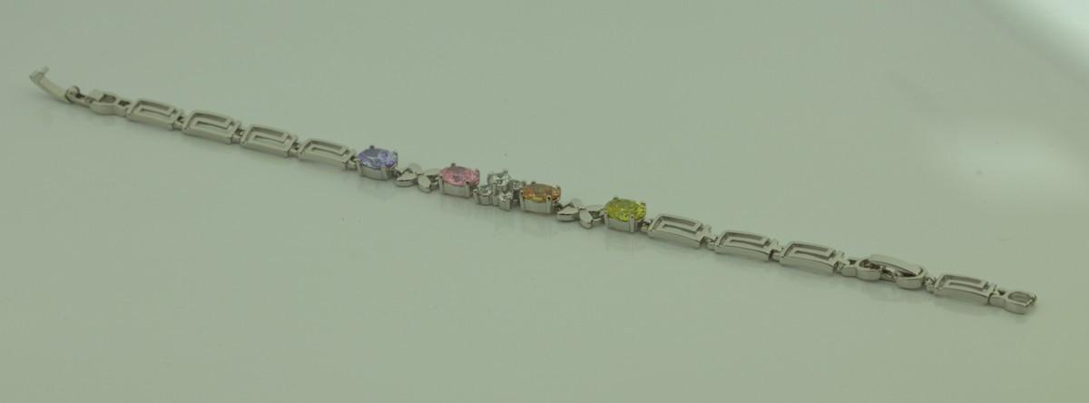 Браслет с разноцветными камнями 12 2114 R5400 (1)