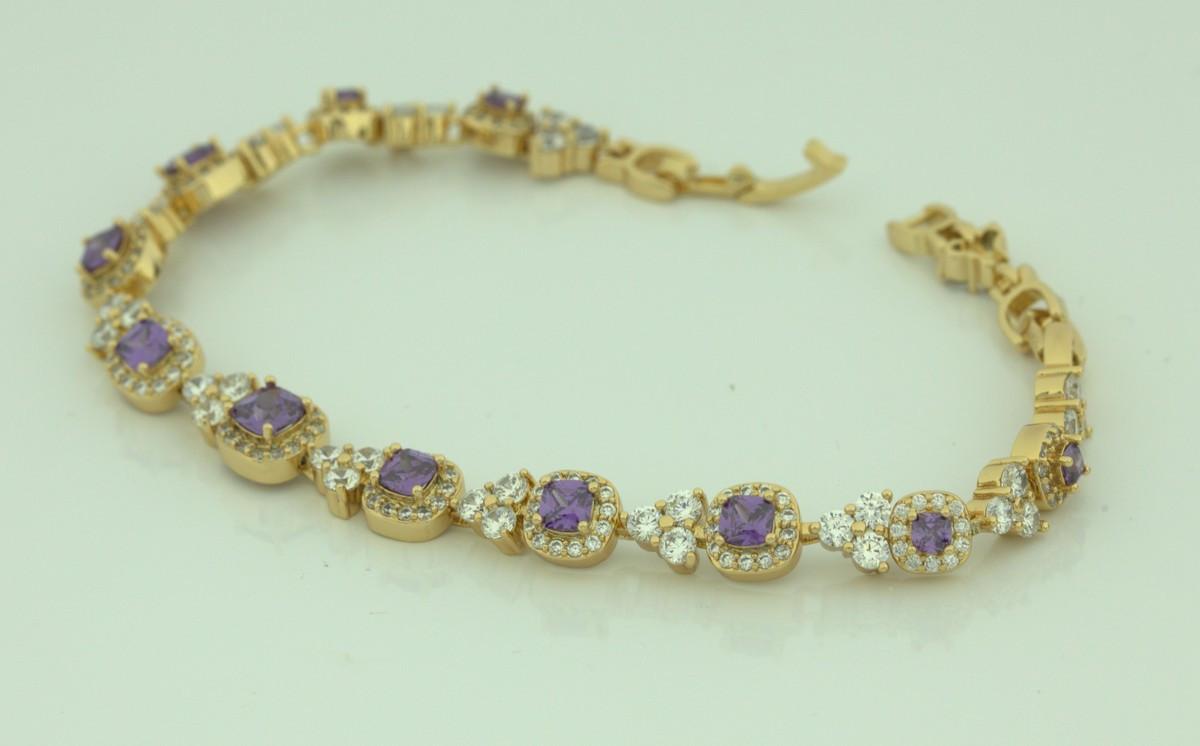Браслет вечерний с фиолетовыми камнями 25  2114 R13100 (1)