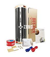 2.5 м² Пленочный теплый пол под ламинат Hot-Film / набор с регулятором / инфракрасный электрический обогрев