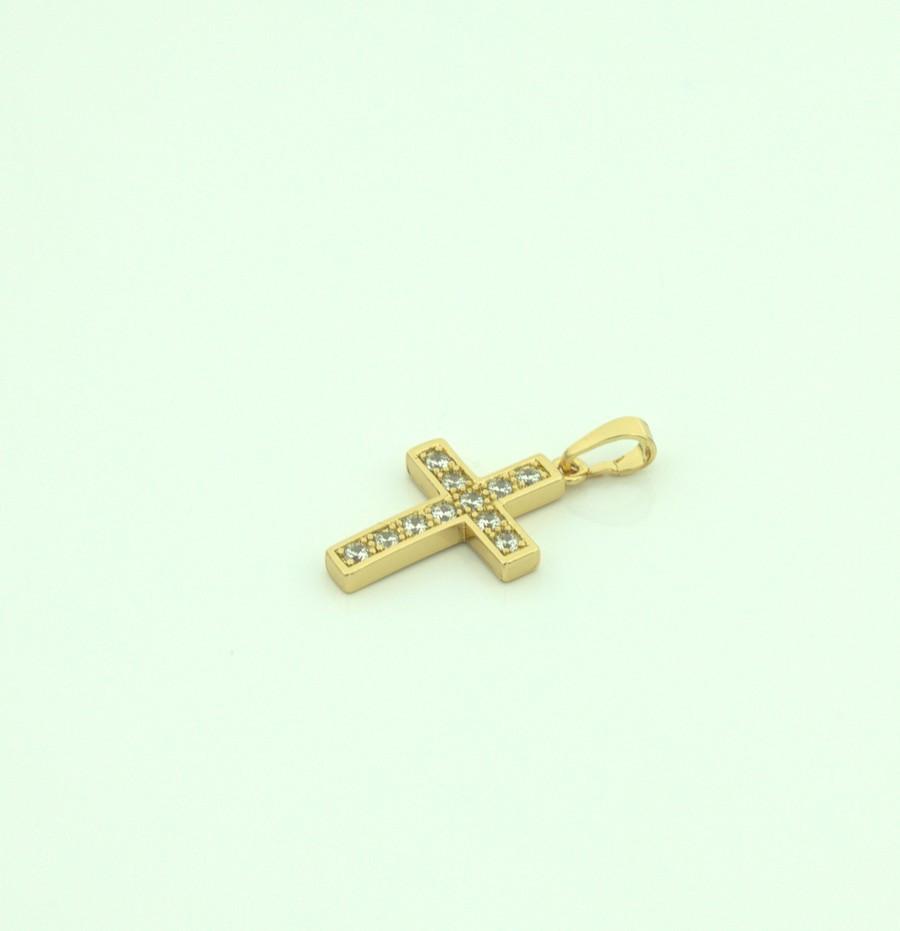 Кулон крест с кмнями 84 2300