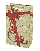 Крафтовый подарочный пакет 11х18х05см PVCP111805
