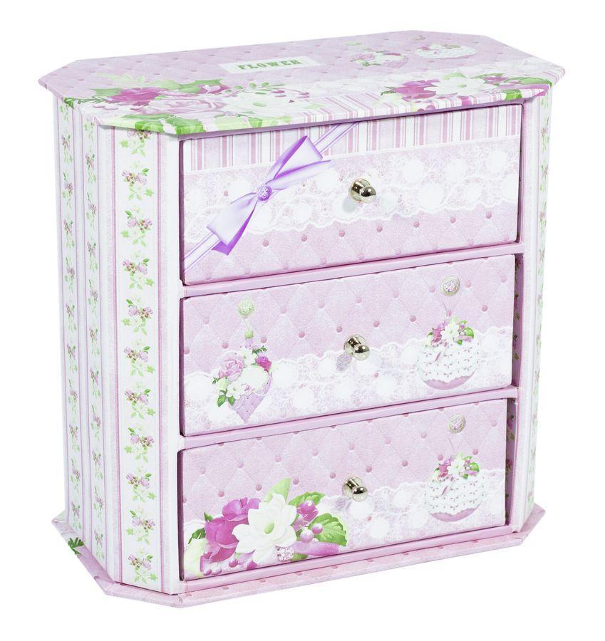 Декоративный комод для украшений розовый 44631-2