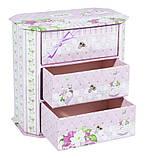 Декоративный комод для украшений розовый 44631-2, фото 2